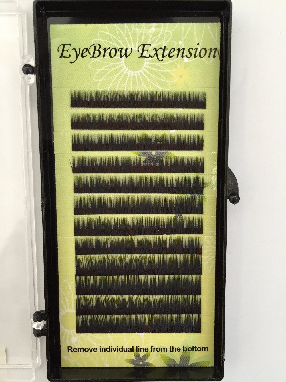 1 Tray High-End Eyebrow/Eyelashes Extensions BROWN or BLACK