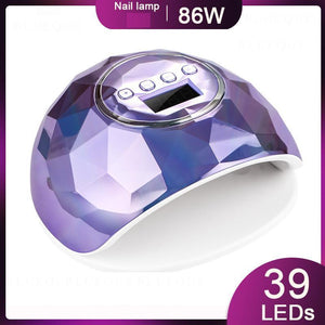 * NEW * 86W UV LED Lamp Nail Dryer 39 PCS LEDs Dual Hands Nail Lamp