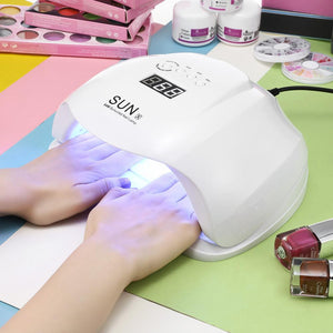 54W Nail Dryer - UV LED Lamp LCD Display 36 LEDs