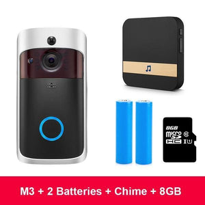 WI-FI Video Door Bell + Extra Chime CCTV Doorbell IR Alarm Wireless Security Camera Doorbell