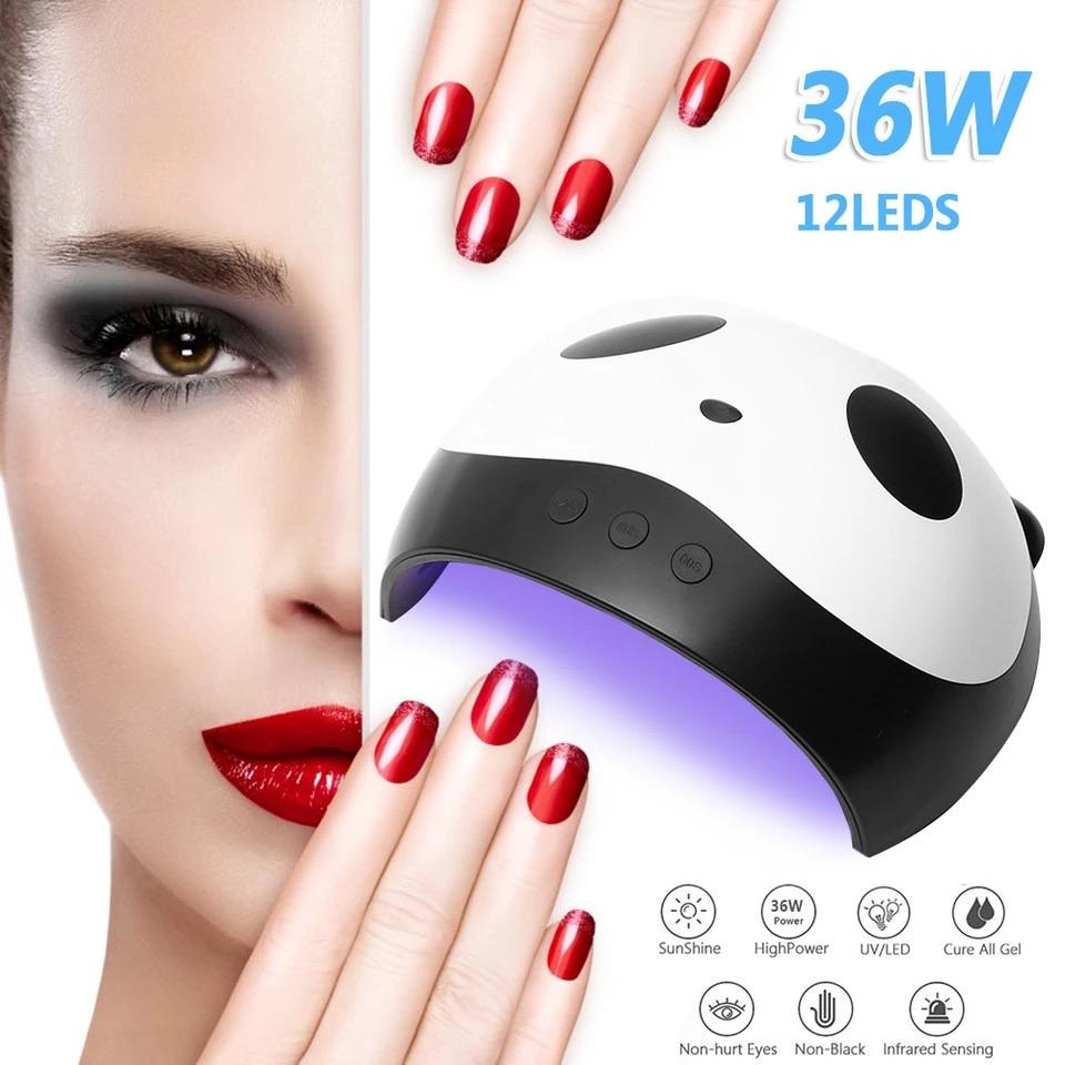 * DEAL * 36W UV LED Portable Lamp 12pcs LEDs Nail dryer Lamp Curing All Types Nail Gels