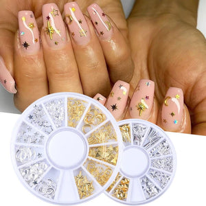 Professional Nail Set With UV Lamp 72W Acryl Gel Nail Form Kits Starry Flower Nail Foil Glue Set Gold Decors For Manicure LY1582