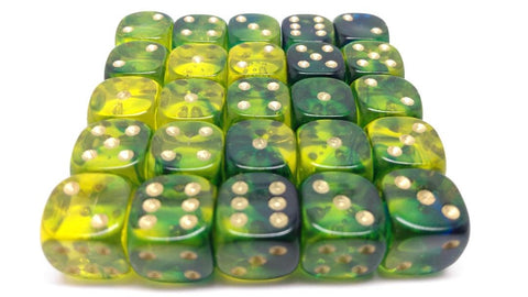 12mm Gem Blitz Dice. Packs of 25