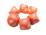 Opaque D10 Poly Dice. Ten sided. Packs of 6
