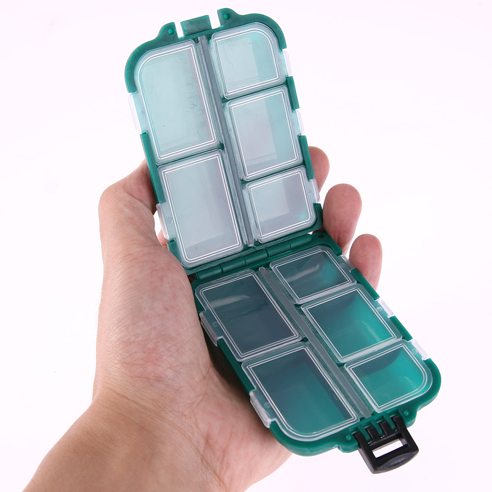 6/10/12 Compartments Storage Case Box Plastic Fishing Lure Spoon Hook Accessory