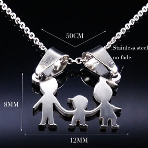 Stainless Steel Girls Boys Necklace Women Jewelry