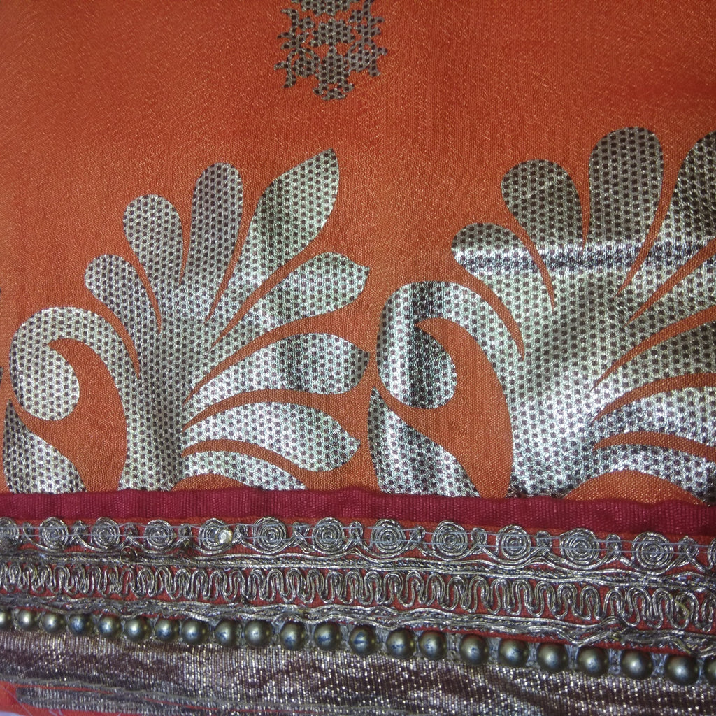 Padma Orange Saree