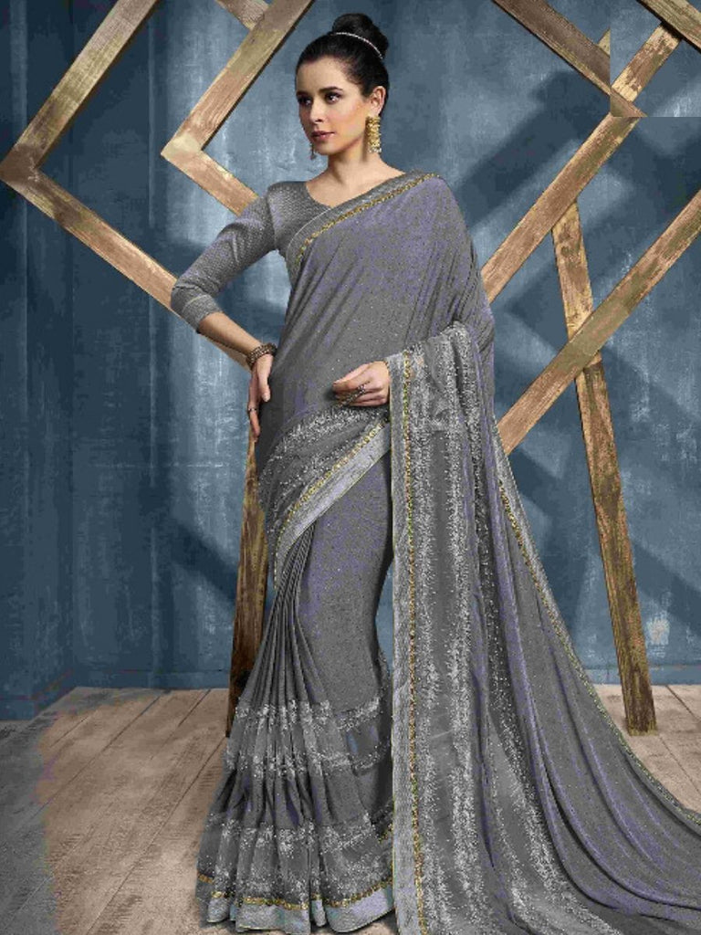 Hansa Grey Saree