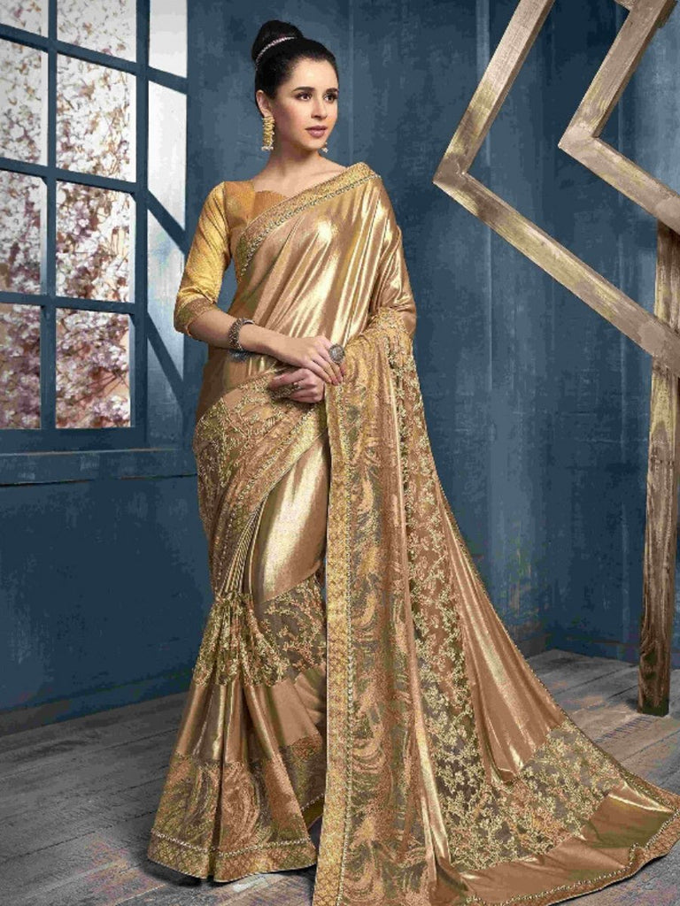 Hansa Brown Saree