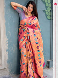 Vani Pink, Blue, Purple Saree