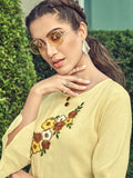 Anuja Light Yellow Suit