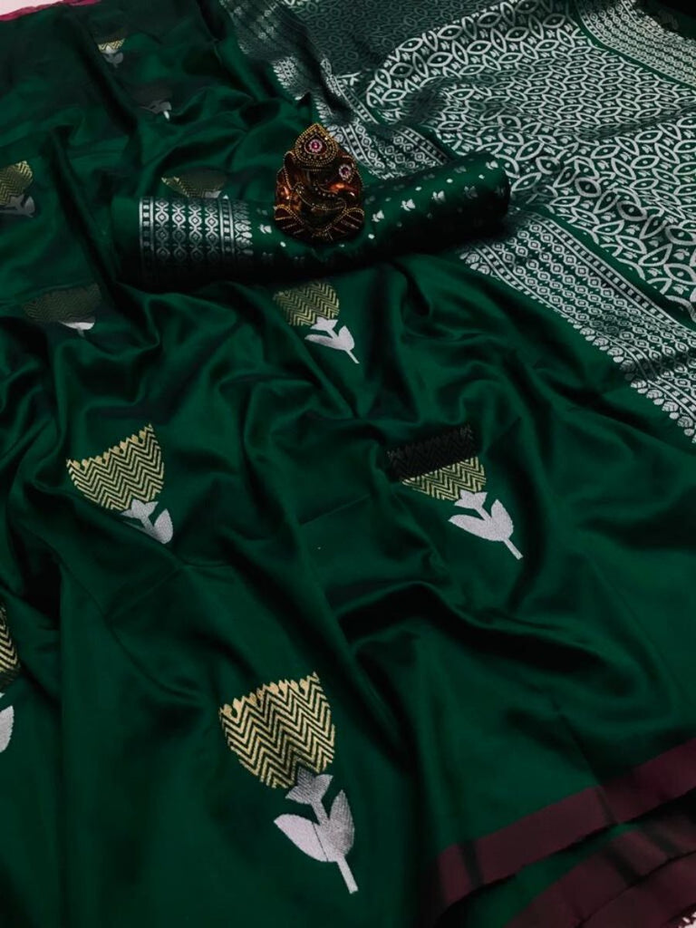 Lekha Dark Green Saree