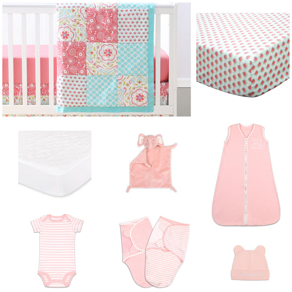 The Peanut Shell Gia 11 Piece Sleep Essentials Crib Set