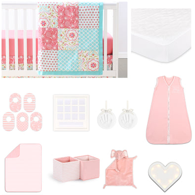 The Peanut Shell Gia 18 Piece Nursery Essentials Set