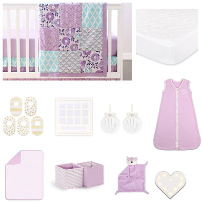 The Peanut Shell Zoe 18 Piece Nursery Essentials Set