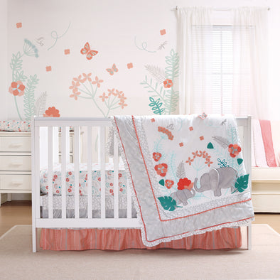 The Peanut Shell Safari Love Crib Bedding Set