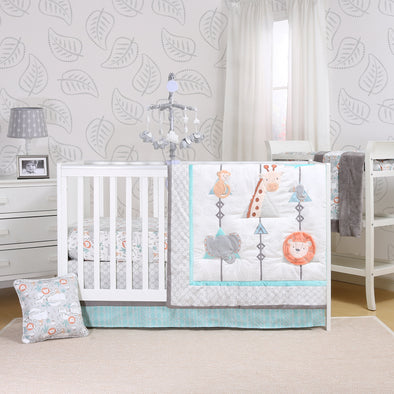 The Peanut Shell Safari Adventure Crib Bedding Set