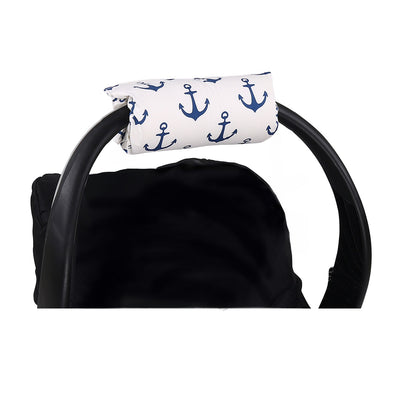 The Peanut Shell Navy Anchor Carrier Cushion