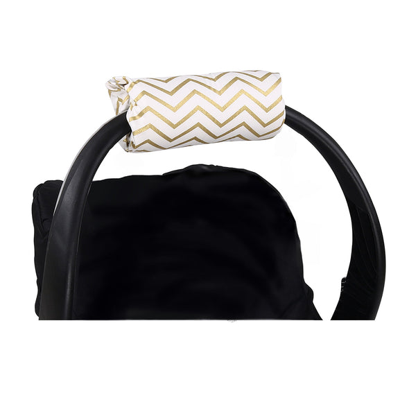 The Peanut Shell Gold Chevron Carrier Cushion