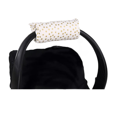 The Peanut Shell Gold Dot Carrier Cushion