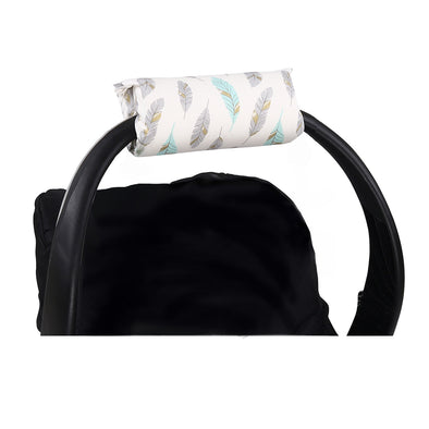 The Peanut Shell Mint Feather Carrier Cushion