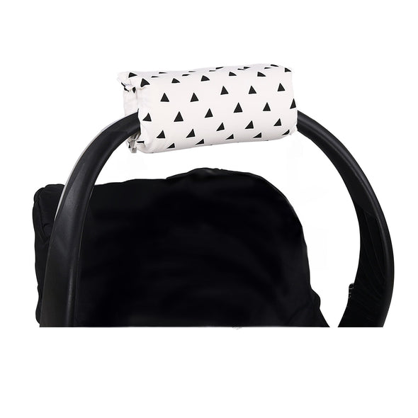 The Peanut Shell Black Triangles Carrier Cushion