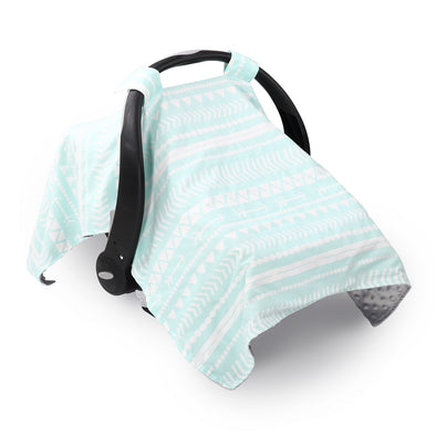 The Peanut Shell Grey & Mint Tribal Canopy Cover