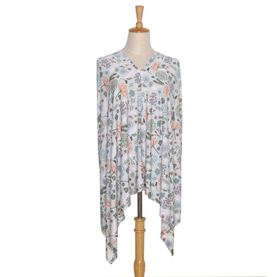 The Peanut Shell 6-In-1 Nursing Poncho In Cali Floral
