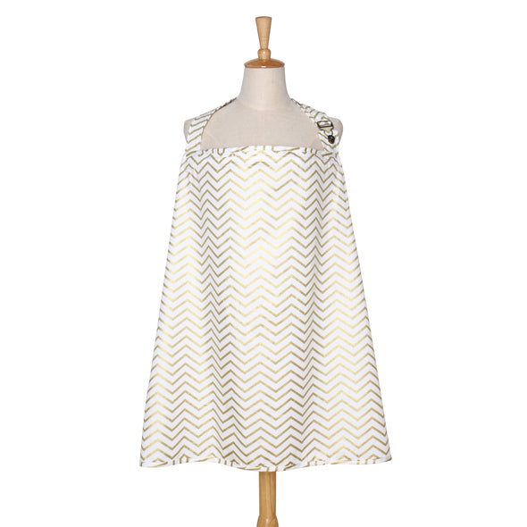 The Peanut Shell Gold Chevron Nursing Cover