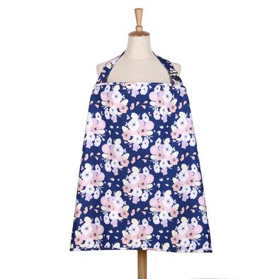 The Peanut Shell Navy Floral Nursing Cover