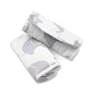 The Peanut Shell Grey Elephants Strap Covers