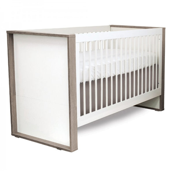 P'kolino Grigio Convertible Crib - Milk - Grey