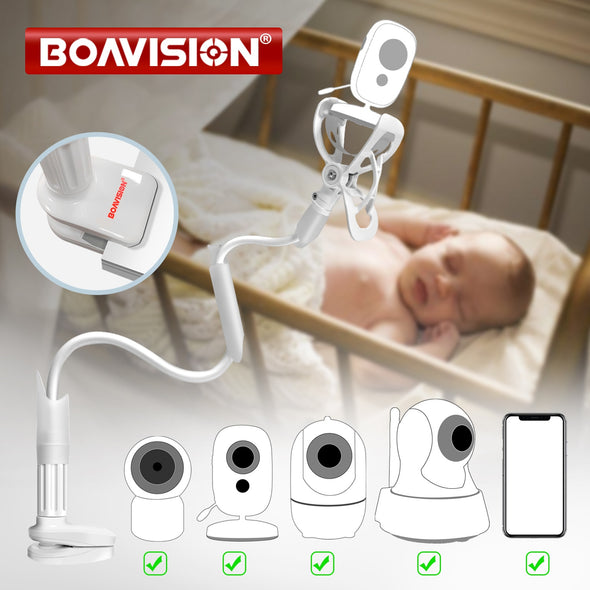 Multifunction Universal Phone Holder Stand Bed Lazy Cradle Long Arm Adjustable 85cm Baby Monitor Wall Mount Camera For Shelf X5