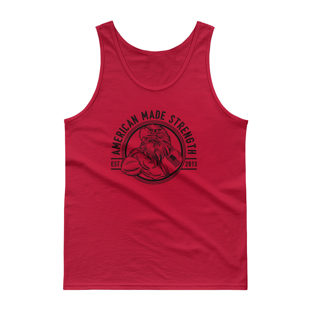 Lift weight shoot guns tank top