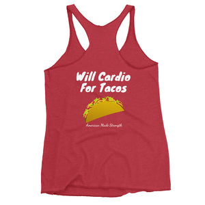 Will Cardio For Tacos Women's Tank