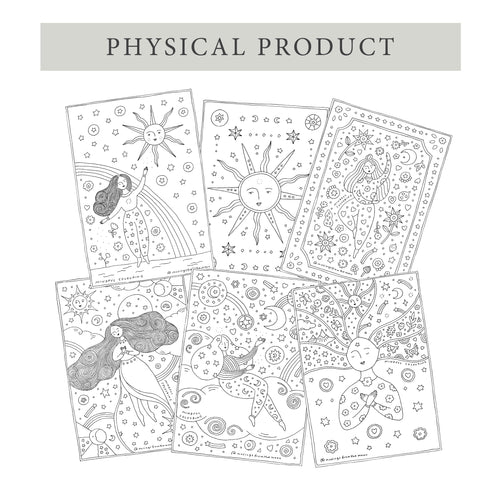 6 PACK Mindful Colouring (Printed + Posted)