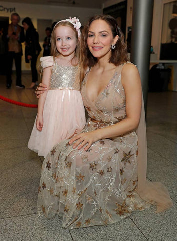 katharine mcphee wearing Elizabeth Grace Couture, Arabella duffy