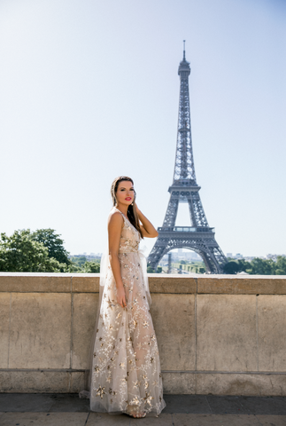 "Elizabeth Grace Couture blog. Steph Adams wears ""A Star is Born"" to Paris Fashion Week"