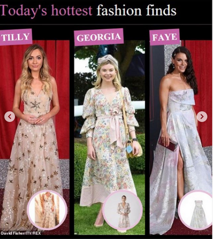 "Elizabeth Grace Couture blog. UK actress, Tilly Keeper, best known as Louise Mitchell from soap opera classic, Eastenders. Wears our ""A Star is Born"" to the British Soap Awards and featured in the Daily Mail's best dressed list"