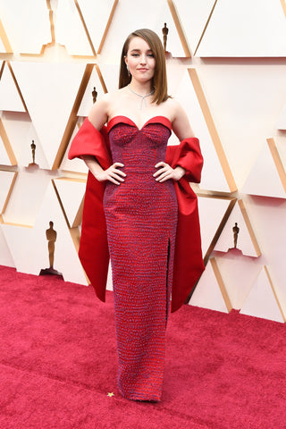 Elizabeth Grace Couture blog. Kaitlyn Dever a wears sustainable Louis Vuitton gown to the Oscars 2020