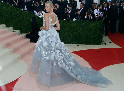 Karolina Kurkova in Marchesa bridal inspired wedding gown at the Met Gala