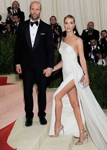 Rosie Huntington-Whiteley in Ralph Lauren wedding inspired gown at the Met Gala