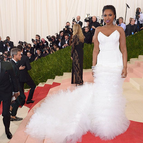 Jennifer Hudson in H&M wedding inspired gown at Cannes Film Festival