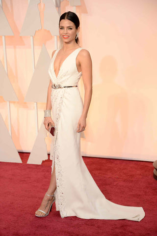 Jenna Dewan in Zuhair Murad wedding inspired gown for the Oscars