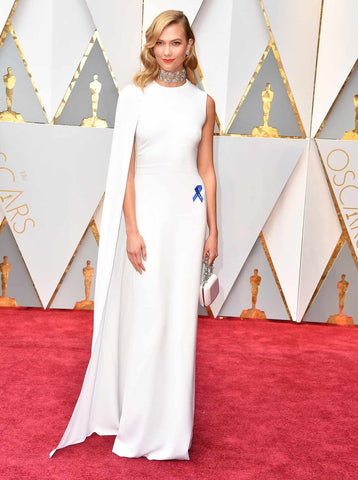 Karlie Kloss in Stella McCartney bridal inspired gown for the Oscars