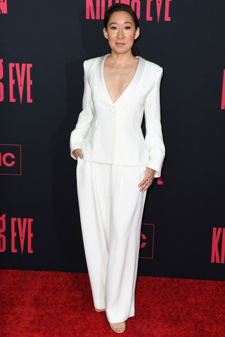 Sandra Oh in white suit