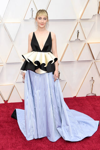 Elizabeth Grace Couture blog. Saiorse Ronan wearing sustainable Gucci gown to the Oscars 2020