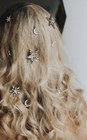 star and moon hair pins by tilly thomas