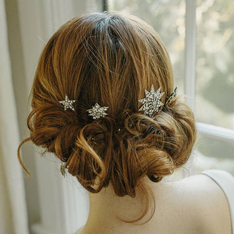 starburst wedding hair pins by erica elizabeth designs