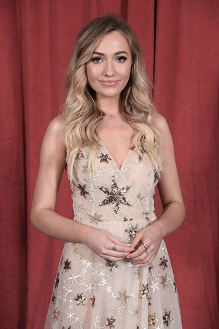 "Elizabeth Grace Couture blog - UK actress, Tilly Keeper, wearing our ""A Star is Born"" gown to the British Soap Awards"